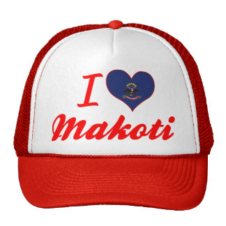 I Love Makoti, North Dakota Mesh Hat