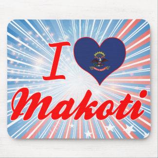 I Love Makoti, North Dakota Mousepads