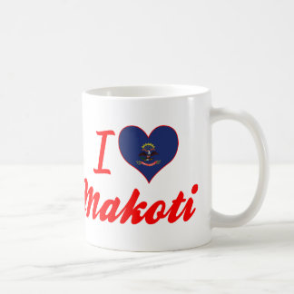 I Love Makoti, North Dakota Coffee Mug