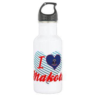 I Love Makoti, North Dakota 18oz Water Bottle