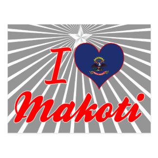 I Love Makoti, North Dakota Postcard