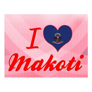 I Love Makoti, North Dakota Postcards