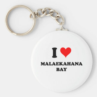 I Love Malaekahana Bay Hawaii Keychain