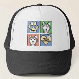 I Love Malamutes Trucker Hat