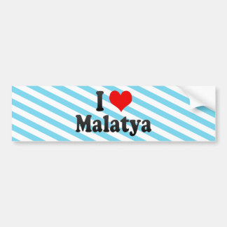 I Love Malatya, Turkey Car Bumper Sticker
