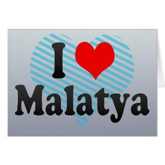 I Love Malatya, Turkey Greeting Card