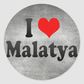 I Love Malatya, Turkey Classic Round Sticker