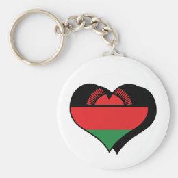 I Love Malawi Keychain