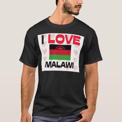 I Love Malawi T Shirt Zazzle