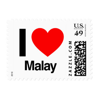 i love malay stamps