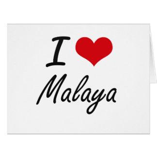 I Love Malaya artistic design Large Greeting Card