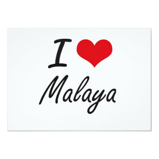 I Love Malaya artistic design 5x7 Paper Invitation Card