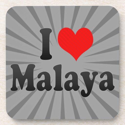 I love Malaya Beverage Coasters