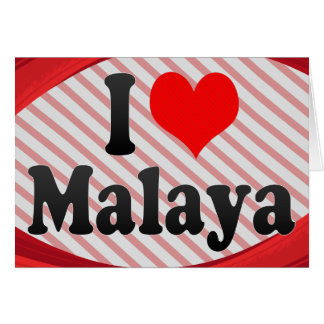 I love Malaya Stationery Note Card