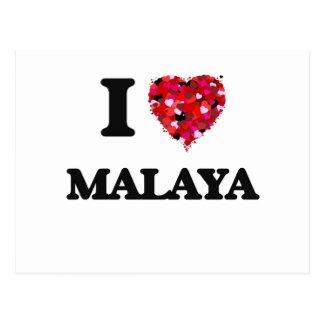 I Love Malaya Postcard