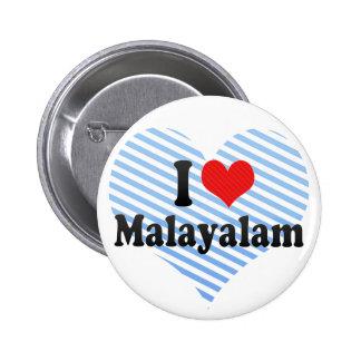 I Love Malayalam Buttons