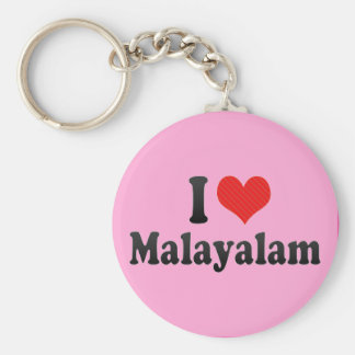I Love Malayalam Key Chain