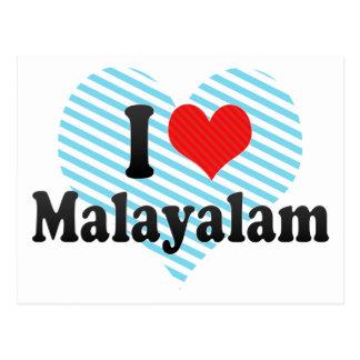 I Love Malayalam Postcard
