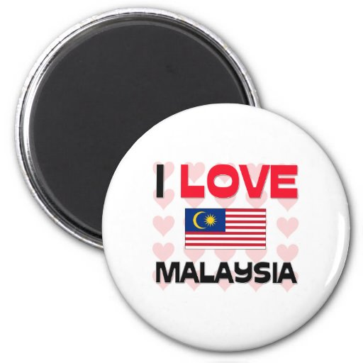 I Love Malaysia 2 Inch Round Magnet