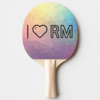 I Love Malaysian Currency Ping Pong Paddle