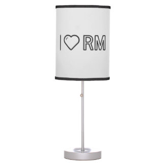I Love Malaysian Currency Table Lamp