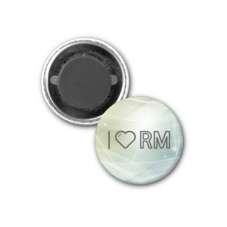 I Love Malaysian Currency 1 Inch Round Magnet