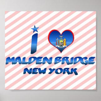 I love Malden Bridge, New York Print