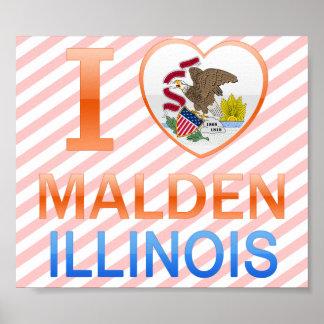 I Love Malden, IL Posters