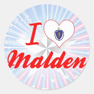 I Love Malden Massachusetts Stickers