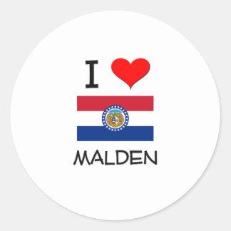 I Love Malden Missouri Round Sticker