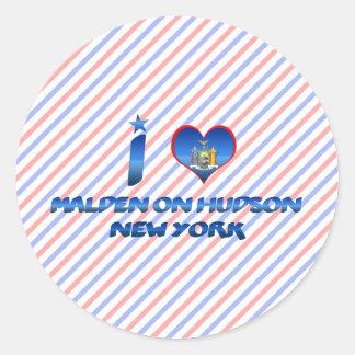 I love Malden on Hudson New York Round Stickers