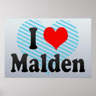 I Love Malden, United States Print