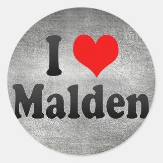 I Love Malden United States Sticker