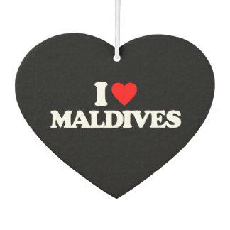 I LOVE MALDIVES CAR AIR FRESHENER