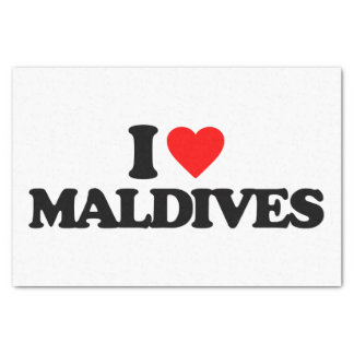 """I LOVE MALDIVES 10"""" X 15"""" TISSUE PAPER"""