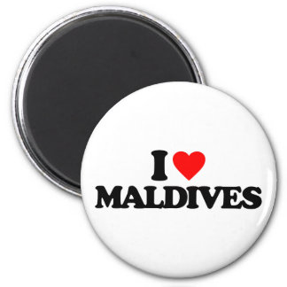 I LOVE MALDIVES 2 INCH ROUND MAGNET