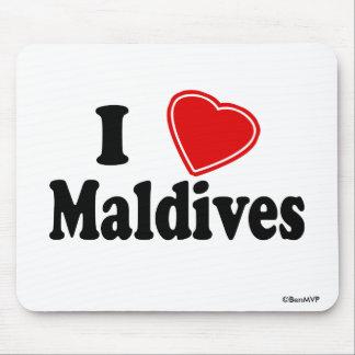 I Love Maldives Mouse Pad