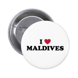 I Love Maldives Pinback Button