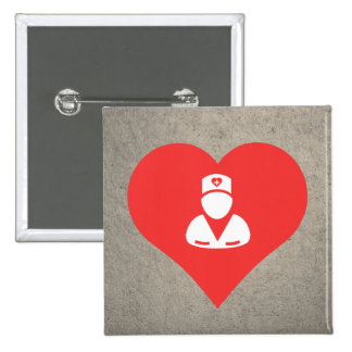 I Love Male Nurses Modern 2 Inch Square Button