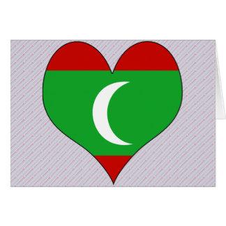 I Love Maledives Greeting Card