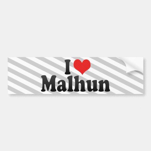 I Love Malhun Bumper Stickers