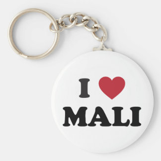 I Love Mali Basic Round Button Keychain