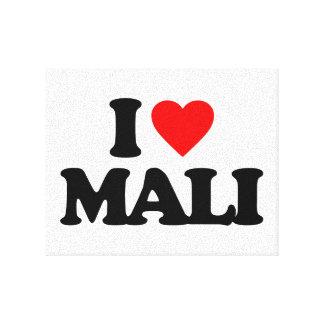 I LOVE MALI STRETCHED CANVAS PRINT