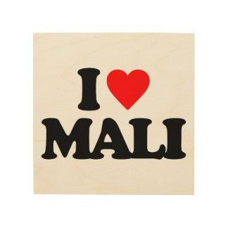 I LOVE MALI WOOD CANVAS