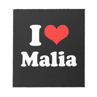 I LOVE MALIA png Memo Note Pads