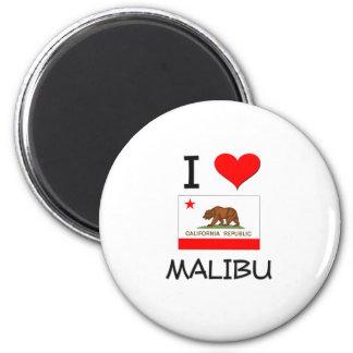 I Love MALIBU California 2 Inch Round Magnet