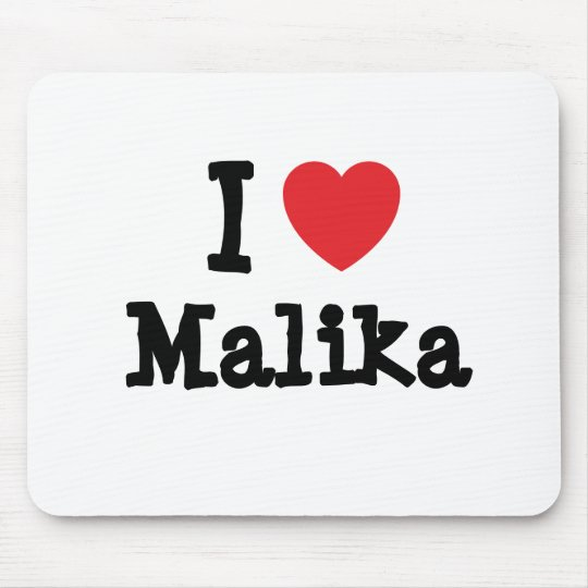 I love Malika heart T-Shirt Mouse Pad