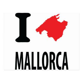 I love Mallorca contour icon Postcard