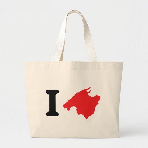 I love mallorca contour symbol canvas bag