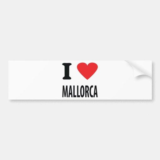 I love mallorca icon car bumper sticker